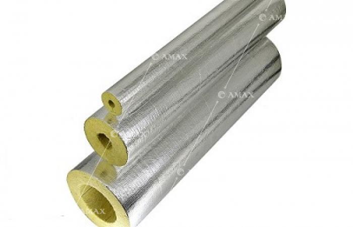 Цилиндры минераловатные теплоизоляционные кашированные фольгой армированной ЦКВ(Ф) АМАКС